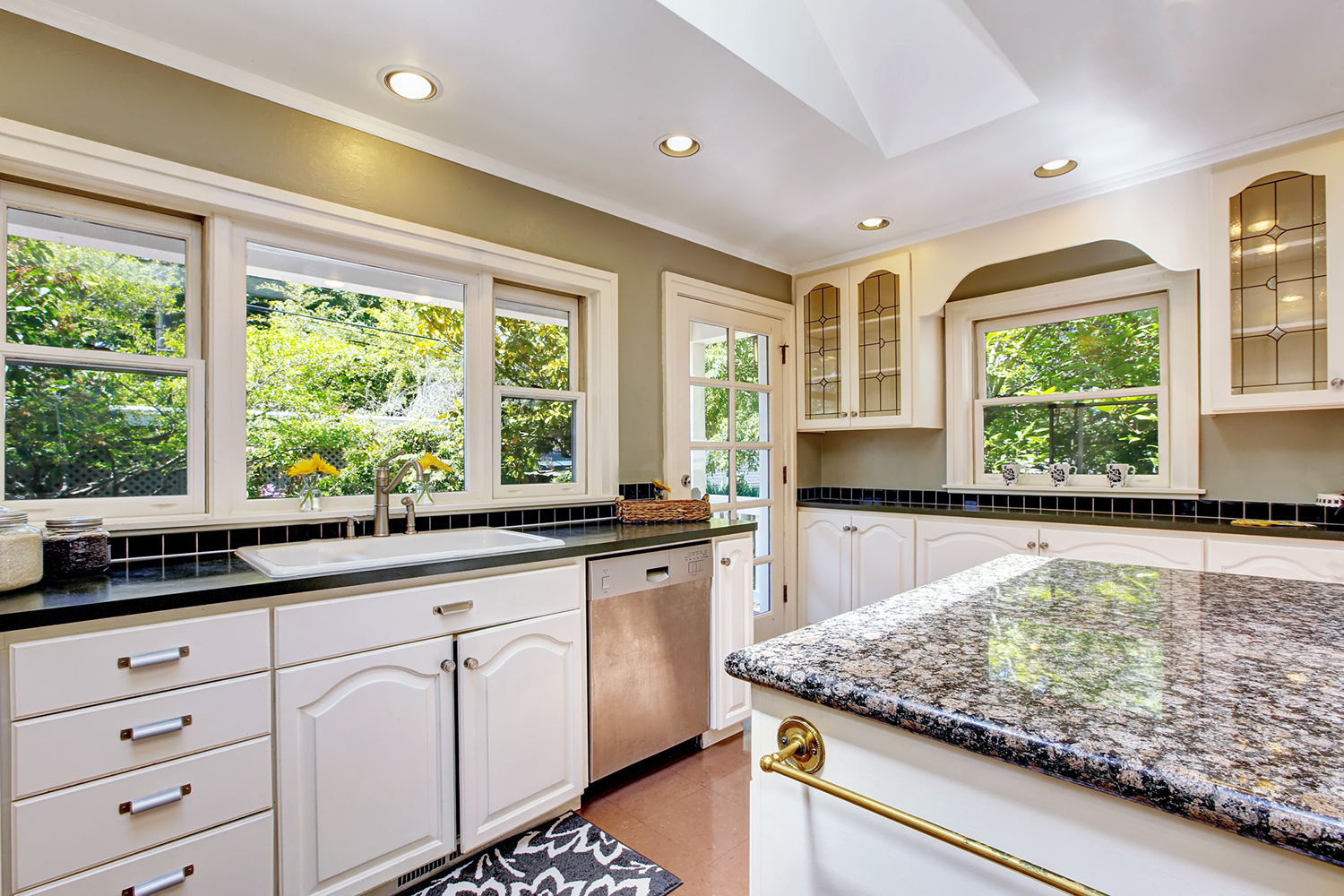 Beautiful kitchen interior seen during a home inspection