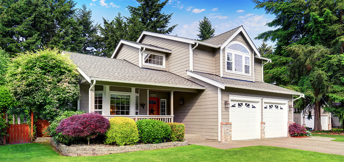 Exterior of a craftsman style house seen during a home inspection